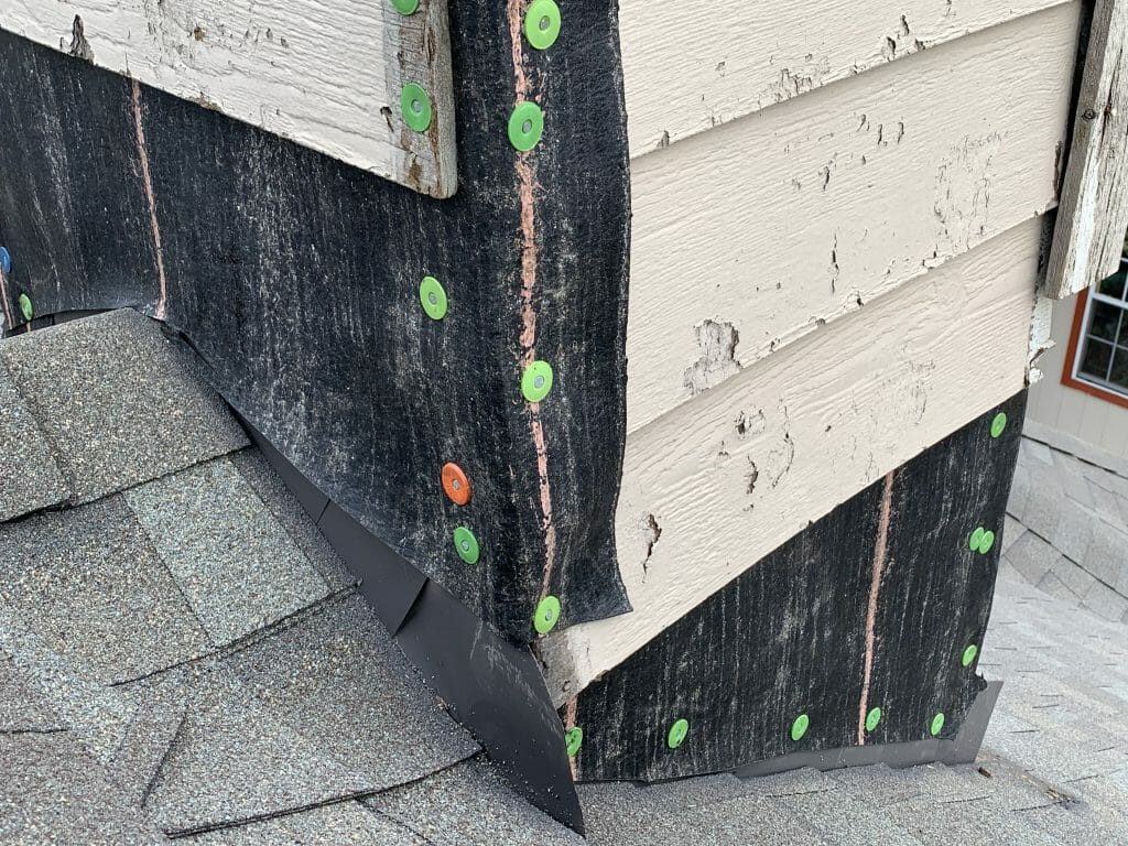 chimney roof flashing replaced by www.honestroof.com.